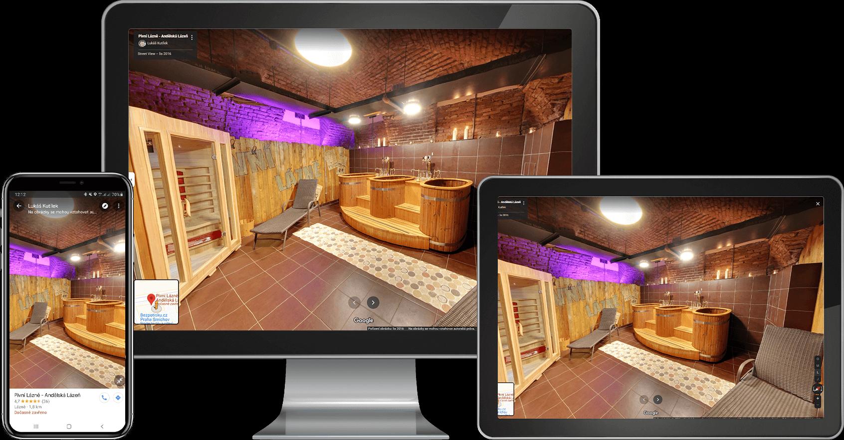 Virtuální prohlídka na různých zařízení - INNOIT