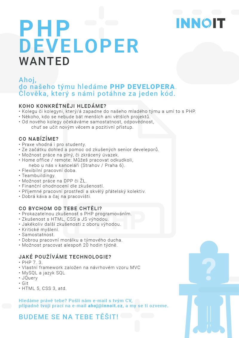 PHP Developer - Kariéra - INNOIT